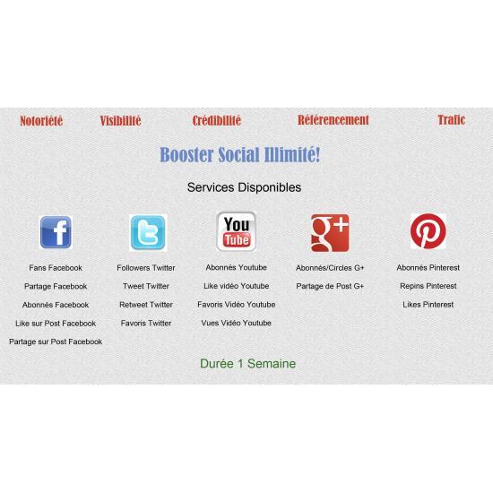 Booster Social Illimité